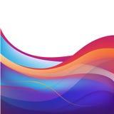 Предпосылка вектора абстрактная красочная волнистая Стоковое Изображение