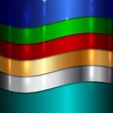 Предпосылка вектора абстрактная металлическая multicolor Стоковое фото RF