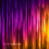 Предпосылка вектора абстрактная светлая с сияющими линиями Стоковая Фотография