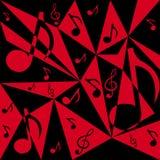 Предпосылка вектора абстрактная с примечаниями музыки Стоковые Фото