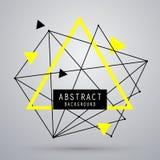 Предпосылка вектора абстрактная с треугольником Стоковая Фотография