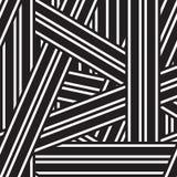 Предпосылка вектора абстрактная с черно-белыми линиями Стоковая Фотография RF