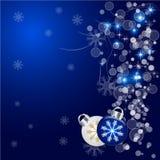 Предпосылка вектора абстрактного рождества голубая иллюстрация вектора