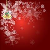 Предпосылка вектора абстрактного рождества красная иллюстрация штока