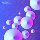 Предпосылка вектора абстрактных фиолетовых конусов яркая Стоковая Фотография RF