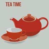 Предпосылка вектора бака и чашки чаепития Стоковые Фотографии RF