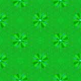 Предпосылка вектора безшовная зеленая флористическая Стоковая Фотография RF