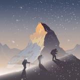 Предпосылка вектора Взбираться, Trekking, бесплатная иллюстрация
