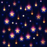 Предпосылка вектора голубая с падающими звездами Стоковые Изображения