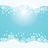 Предпосылка вектора голубая с снежинками Стоковые Изображения RF