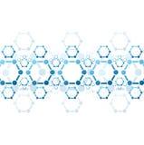 Предпосылка вектора голубой структуры молекулы Стоковые Изображения