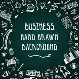 Предпосылка вектора дела Doodle нарисованная рукой Стоковые Фотографии RF