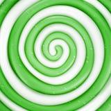 Предпосылка вектора леденца на палочке Иллюстрация свирли зеленой сладостной конфеты круглая иллюстрация вектора