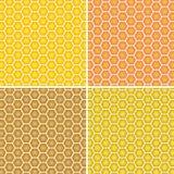 Предпосылка вектора Желтый и оранжевый сот Стоковые Изображения