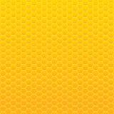 Предпосылка вектора Желтый и оранжевый сот Стоковые Фотографии RF