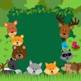 Предпосылка вектора животных леса бесплатная иллюстрация