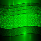 Предпосылка вектора зеленая металлическая текстурированная иллюстрация вектора