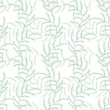 Предпосылка вектора лист флористическая абстрактная безшовная Стоковые Изображения