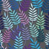 Предпосылка вектора лист флористическая абстрактная безшовная Стоковая Фотография RF