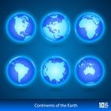 Предпосылка вектора карты мира Стоковая Фотография RF