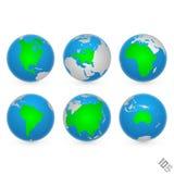 Предпосылка вектора карты мира Стоковое Изображение