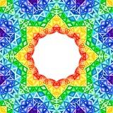 Предпосылка вектора калейдоскопа радуги красочная иллюстрация вектора