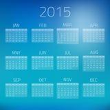 Предпосылка вектора календаря 2015 лоска лета Стоковые Фото