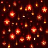 Предпосылка вектора красная с падающими звездами Стоковая Фотография RF