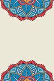 Предпосылка вектора мандалы Стоковые Фотографии RF
