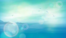 Предпосылка вектора моря Стоковое Фото
