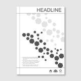 Предпосылка вектора науки Современные шаблоны вектора для брошюры, рогульки, кассеты крышки или отчета в размере A4 молекула Стоковая Фотография