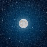 Предпосылка вектора ночное небо звёздное звезда Луна Стоковая Фотография RF