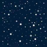 Предпосылка вектора ночное небо звёздное 10 eps Стоковое Фото
