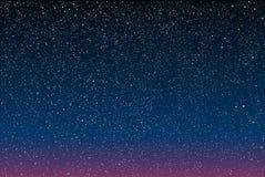 Предпосылка вектора ночное небо звёздное 10 eps Стоковое Изображение