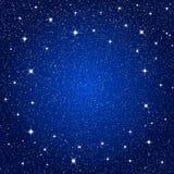 Предпосылка вектора ночное небо звёздное 10 eps Стоковые Фото