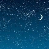 Предпосылка вектора ночное небо звёздное 10 eps Стоковые Изображения RF