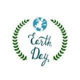 Предпосылка вектора дня земли Стоковое Фото