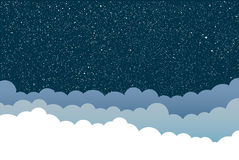 Предпосылка вектора Облака небо звёздное 10 eps Стоковое Фото