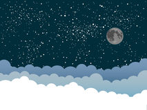 Предпосылка вектора Облака небо звёздное 10 eps Стоковое Изображение