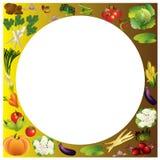 Предпосылка вектора овощей с местом для текста, здоровой еды t Стоковые Фото