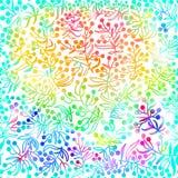 Предпосылка вектора радуги абстрактная с doodle Стоковое Изображение