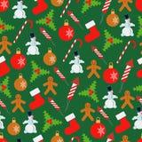 Предпосылка вектора рождества и Нового Года безшовная иллюстрация вектора