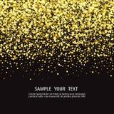 Предпосылка вектора роскошная черная с бенгальскими огнями золота glitter иллюстрация штока