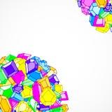 Предпосылка вектора самоцветов doodle шаржа иллюстрация штока
