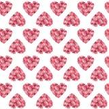 Предпосылка вектора сердец Стоковые Изображения RF
