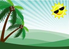 Предпосылка вектора солнечности летнего отпуска стоковое фото