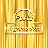 Предпосылка вектора спагетти с логотипом Стоковая Фотография RF