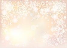 Предпосылка вектора с белыми снежинками Стоковые Фото