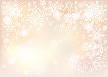 Предпосылка вектора с белыми снежинками Стоковые Фотографии RF