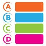 Предпосылка вектора с 4 выборами ABCD Стоковые Изображения